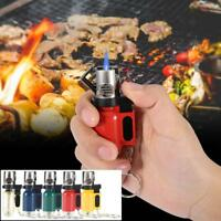 Portable BBQ Lighter Grilling Barbecue Butane Flame Lighter Keychain No Gas