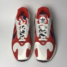 new concept 101ae 99779 Adidas Yung-1 Chalk White Core Black Collegiate Navy Red B37615 US Size 9