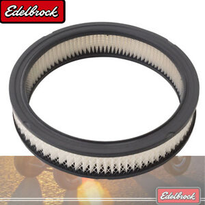 "Edelbrock Replacement Paper Air Filter for Elite Series 10"" Round Air Cleaners"