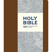 NIV Journalling Brown Imitation Leather Bible with Clasp by New International...