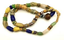 Antique Vintage Venetian multi color Glass African Trade Bead Necklace 28 inch
