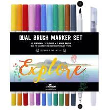 Stationery Island Dual Brush Pen Set Of 12 - Watercolour Brush Pens/Markers