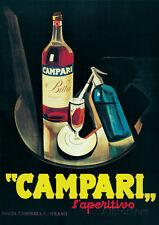 Campari - Vintage Style Advertisement Poster Poster Print, 20x28