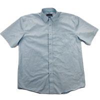 Ariat Pro Series Mens XL Blue Plaid Short Sleeve Button Up Shirt