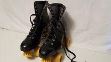 Nash Cruisers Roller Derby Skates Mens Black Leather Boots Urethane Metal Size 9