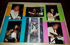 UFO  MICHAEL SCHENKER GROUP Autographed 5×7 Postcard + 5 LIVE Photos