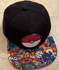 Pokemon Go Pokeball Pikachu Charizard Squirtle SnapBack Hat RN# 115665 Rare