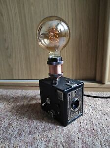 Camera Lamp Industrial Retro Vintage Upcycled Black Coronet 620 Box Film LED