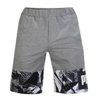 Puma Summer Pack TR Mens Grey Black Sweat Training Gym Shorts 850136 03 A56C