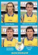 n°421 VIGNETTE PANINI CHAMPIONNAT DE FRANCE 1996 4 joueurs SOCHAUX