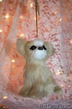 Christmas Ornaments Kurt Adler Chihuahua Tan & White Realistic Furry Dog