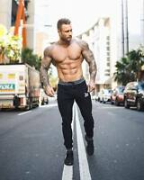 Men's Asian Size Bodybuilding Pants Fitness Joggers Long Pants Casual Sweatpants