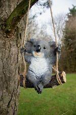 Hanging Koala Tree Ornament Swinging Garden Figure Rope Decor Large Outdoor
