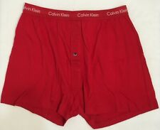 Calvin Klein Cotton Stretch Boxer Red Single Button Fly Size Large NWOT