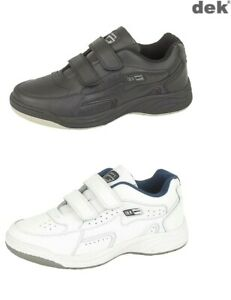 Mens Trainers Wider Fit Dek Leather Touch Fastening  Arizona Size 6 - 14 UK