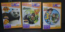 3 lot Fisher-Price iXL Kung Fu Panda 2 Green Lantern Toy Story 3  Learning Game