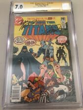 The New Teen Titans #2 (First Deathstroke) - Signed Wolfman Perez CGC SS 7.0