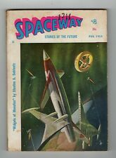 Spaceway Stories of the Future Sci-Fi Pulp Magazine Vol 1 #2 Feb 1954 VG 4.0
