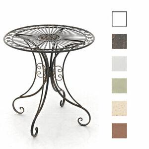 Table de Jardin en Fer Forgé HARI Table de Terrasse Style Antique Hauteur 73cm