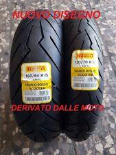 Coppia 120/70 R16 57H 160/60 R15 67H Pirelli Diablo Rosso Scooter GP 800 dot2017