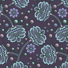 Tula Pink The Birds and the Bees - Bees Knees in Lapis - 100% cotton Fabric