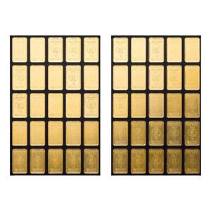 Goldbarren 50 x 1 Gramm UnityBar Heimerle + Meule
