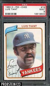 1980 O-PEE-CHEE OPC #19 Luis Tiant New York Yankees PSA 9 MINT
