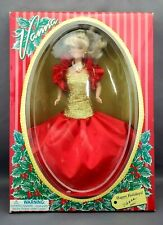 "Vtg VANNA WHITE Wheel of Fortune HAPPY HOLIDAYS 11.5"" RED & GOLD Fashion Doll"