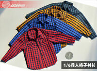"1/6 Male Female Plaid Shirt Coat Clothes Fit 12"" PH TBLeague JO Figure Body"