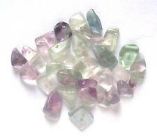 20g of fluorite gem chips - drilled tumblechip beads for jewellery and crafts