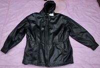 J. ELKIM WOMEN WINTER LEATHER JACKET Size - XXL. TAG NO. 387f