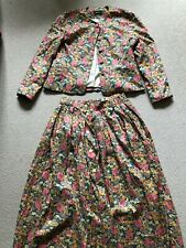 Vintage Liberty Co-Ord Skirt Suit - Size 16