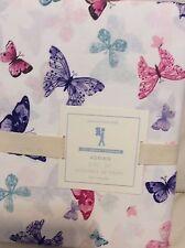 Pottery Barn Kids Adrian Butterfly Organic Twin Sheet Set NIP!