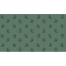 Makower Patchwork Fabric Crystal Farm Horses Green - Per 1/4 Metre