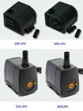 SUBMERSIBLE WATER PUMP FISH TANK AQUARIUM SUMP PUMPS POND FEATURE WATERFALL