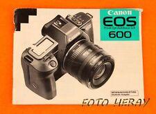 Canon EOS 600 manuale di istruzioni originale tedesco edizione 01926