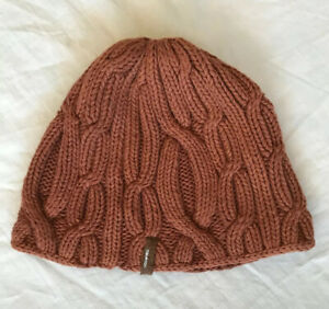 GUC Burton Snowboards Womens 100% Acrylic Rust Color Knit Winter Hat O/S