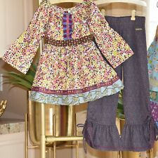 Matilda Jane Girls Fall Character Counts Top & Pant Outfit Set Size 8 Nwot
