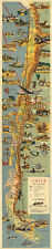 """Chile Midcentury Pictorial Map LARGE 16""""x77"""" Wall Art Poster Home School Office"""