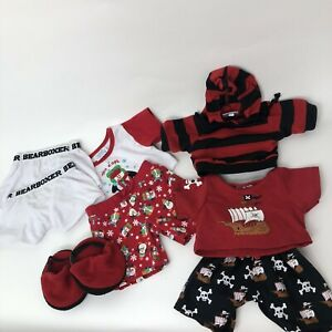 Build A Bear Pajama Sets With Slippers ( 8 PCs)