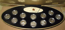 1999 CANADA SILVER 1/4 DOLLAR 25 CENTS X 12 CAMEO PROOF MILLENNIUM SET