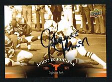Johnnie Johnson signed autograph 2011 Upper Deck University of Texas Football