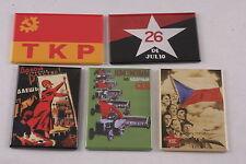"""Soviet Communist Refrigerator Magnet Lot Set 2""""x3"""" Party Feminism Cuba VLKSM TKP"""