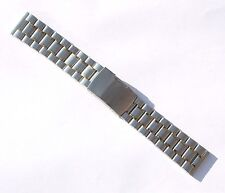 22mm Stainless Steel Watch Band - Gold & Silver Tone - Solid Links
