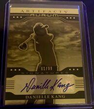 New listing 2021 UD Artifacts Golf LPGA Danielle Kang Aurum Gold Autograph AUTO Card 61/99