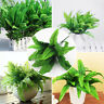 10X Plants Indoor Outdoor Fake Flower Leaf Foliage Bush Home Office Garden Decor