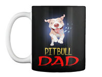 Excited Pit Bull Dad Running And Droolin Gift Coffee Mug