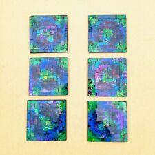 Mosaic Glass Coasters Set 6 Fair Trade Hand Made Geometric Abstract Coaster