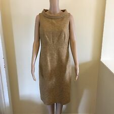 NEW Anne Klein Size 8 Pique Roll-Neck Sheath Shift Dress