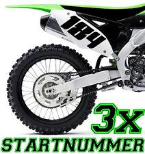 3x Numéro de départ au choix Moto Motocross étiquette ATV MX Enduro Botte x